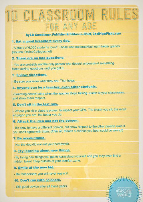 10 classroom rules