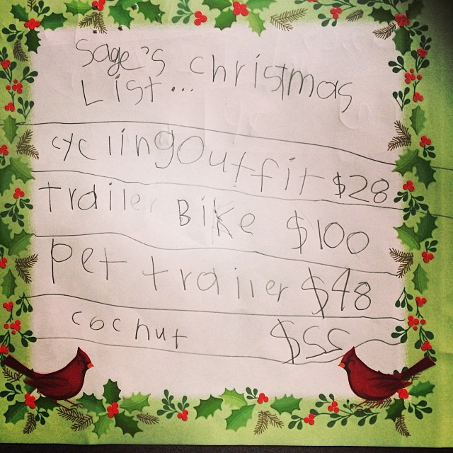 Sage letter to Santa | Mom-101