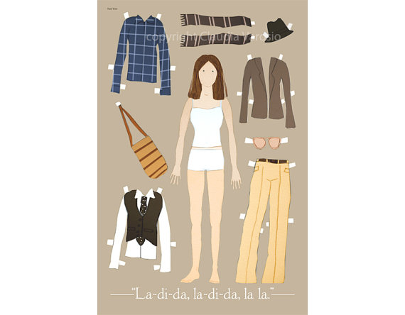 Annie Hall paper doll art - Claudia Varosio | Mom101