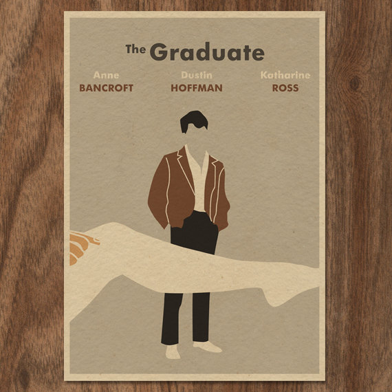 The Graduate minimalist poster by Monster Gallery | Mom101