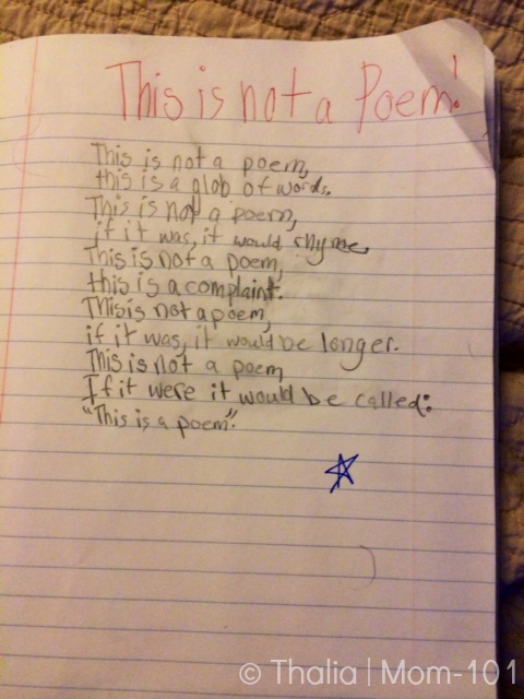 This is not a Poem | © Mom-101 by Thalia