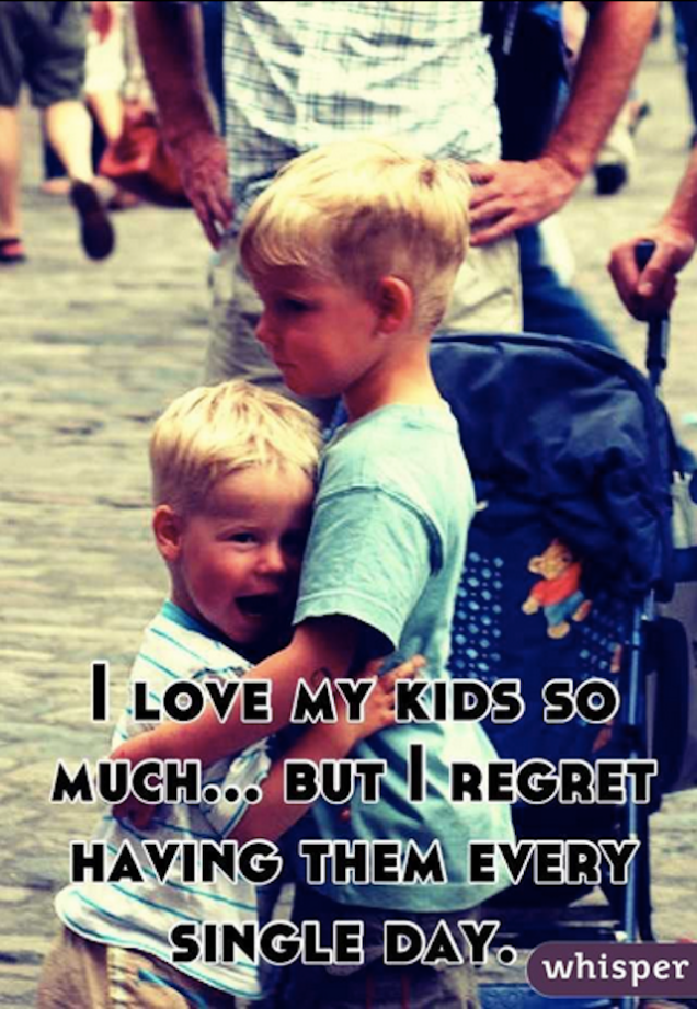 Mothers who regret motherhood on whisper - mom-101.com