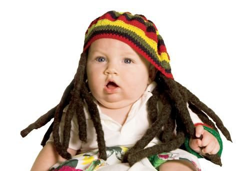 Baby in dreadlocks cap | Mom-101